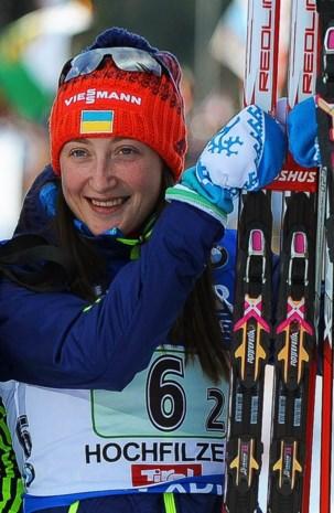 Op doping betrapte biatlete Abramova ziet af van analyse B-staal