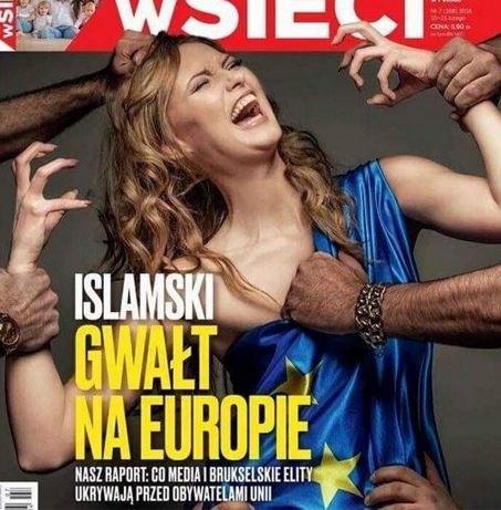 Verontwaardiging over cover van Pools magazine