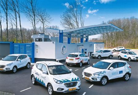 Testrit in auto op waterstof met wereldexpert