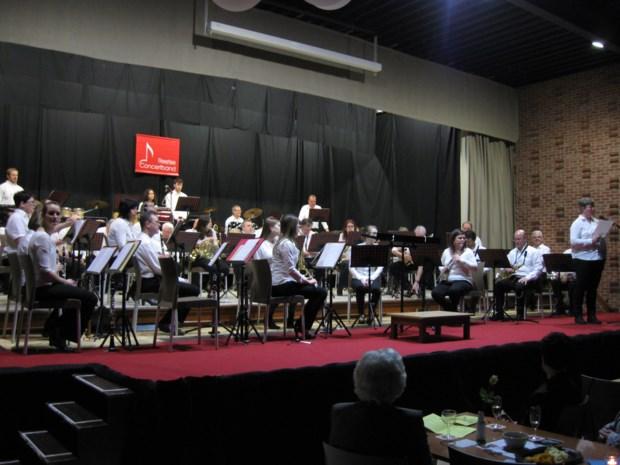 Concertband zorgt voor aperitief