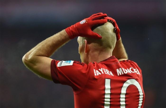 """Bayern kan alweer vijf weken niet rekenen op """"man van glas"""" Arjen Robben"""