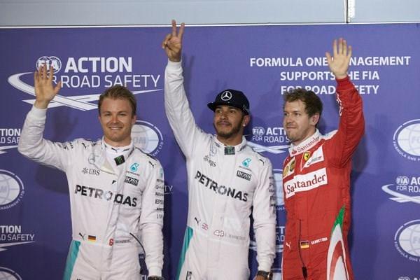 GP van Bahrein: startgrid