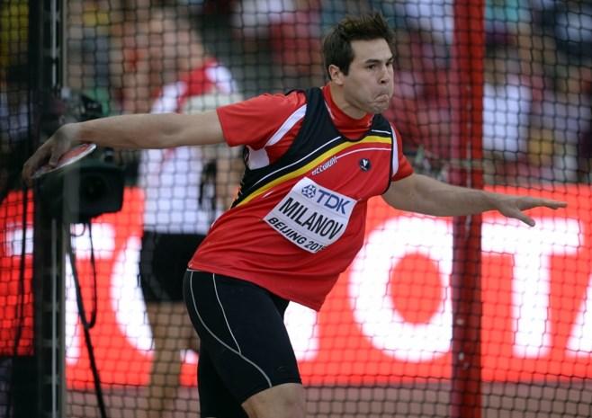 Philip Milanov gooit nieuw Belgisch record in het discuswerpen