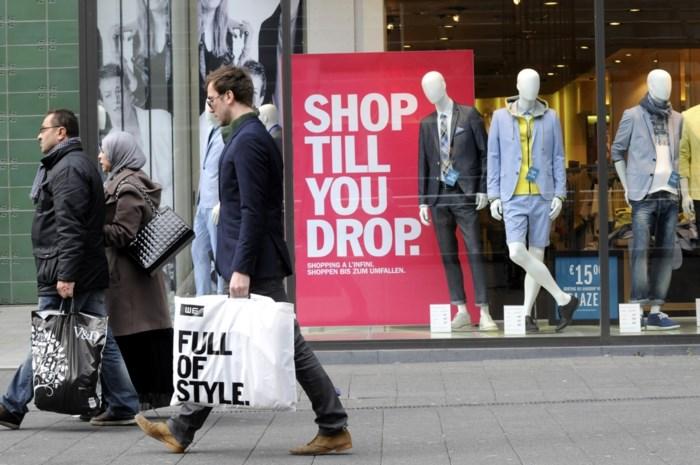 Shoppende Belg wordt jonger en mannelijker