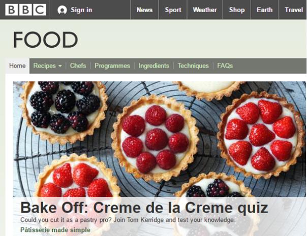 Petitie redt 11.000 recepten op de site van BBC