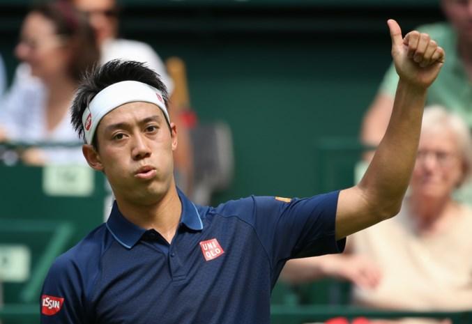 Tweede reekshoofd Nishikori geeft forfait in Halle met ribblessure