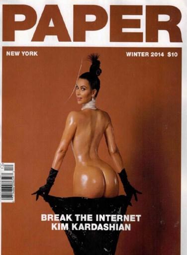 Kim Kardashian gaat helemaal naakt voor magazine