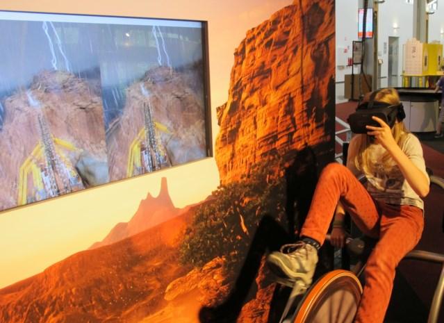 Technopolis laat bezoekers door Grand Canyon fietsen