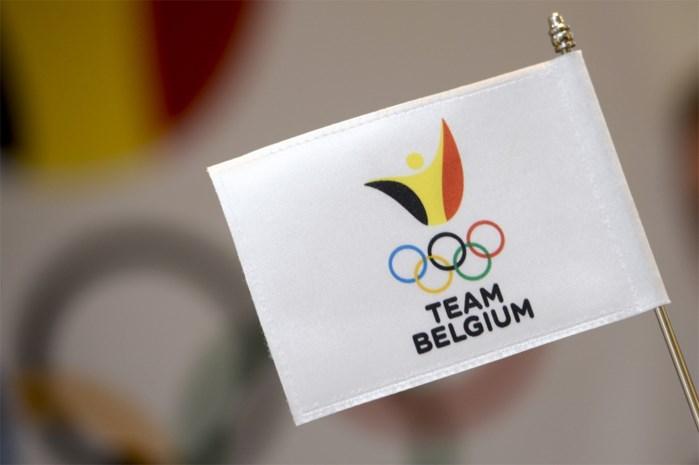 Belgische vlag wappert in olympisch dorp