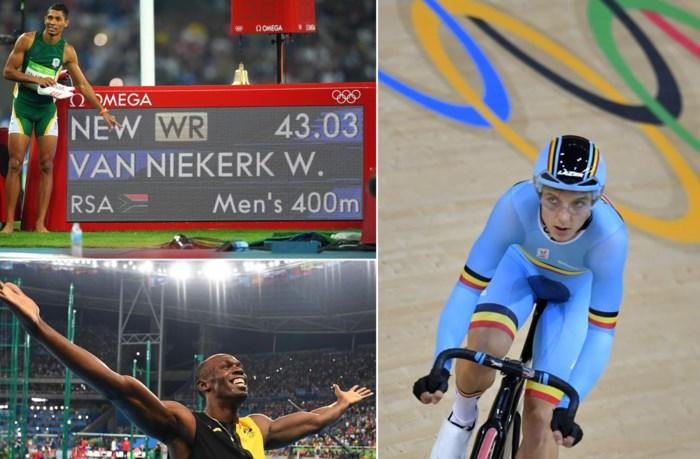 Dit gebeurde vannacht in Rio: nieuw wereldrecord, snelle Bolt en teleurgestelde De Buyst