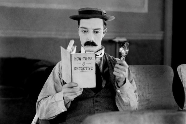 Martinus Wolf begeleidt Buster Keaton