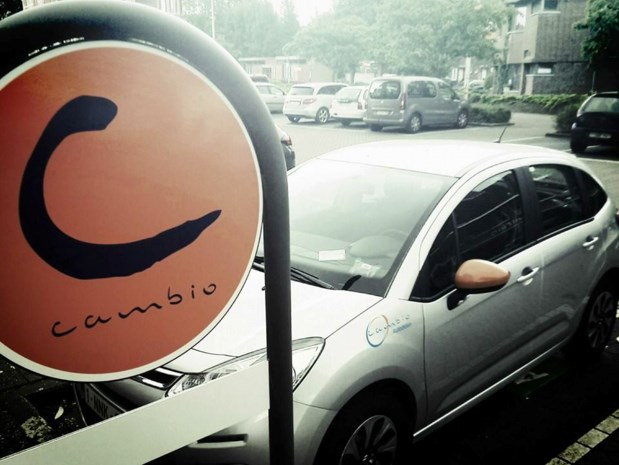 Cambio-autodelen wordt steeds populairder