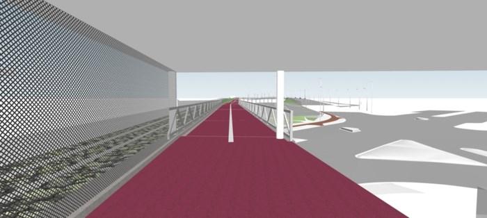 Nieuwe fietsbrug over Singel wordt in haar geheel geplaatst