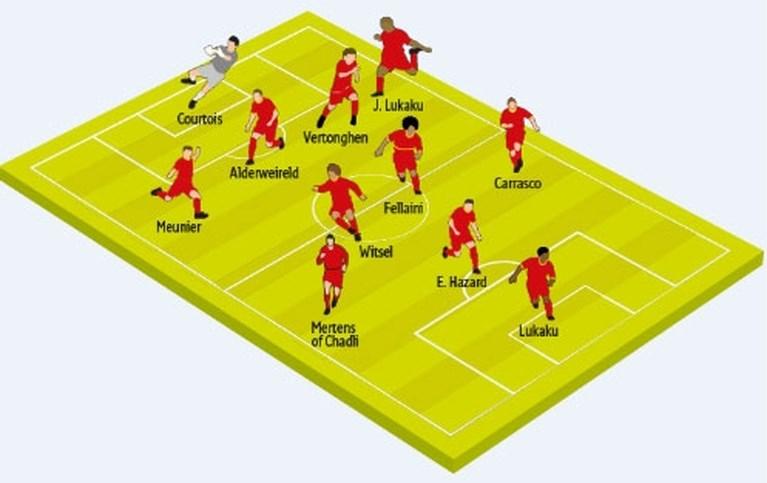 Martinez zet Jordan Lukaku en Dries Mertens in de basis tegen Bosnië