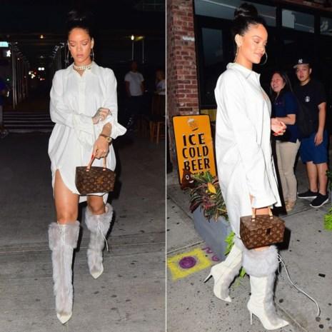 Rihanna dineert in outfit van Antwerpse ontwerper