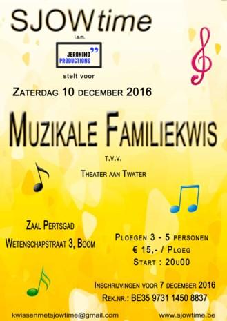 Inschrijven muzikale familiekwis