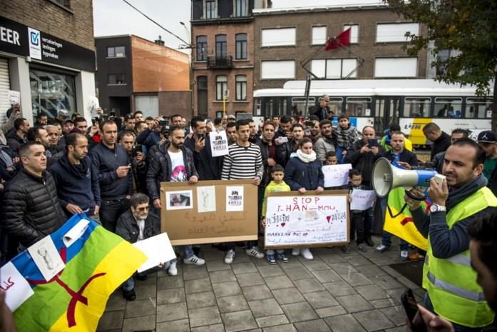 Ruim 150 actievoerders in Hoboken tegen dood Marokkaanse visboer