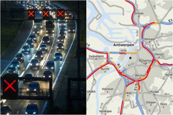 Grote verkeershinder op Antwerpse Ring na regen en ongevallen