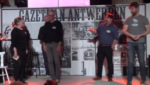 Bart Cannaerts en Jeron Dewulf brengen vol Kaffee aan het lachen