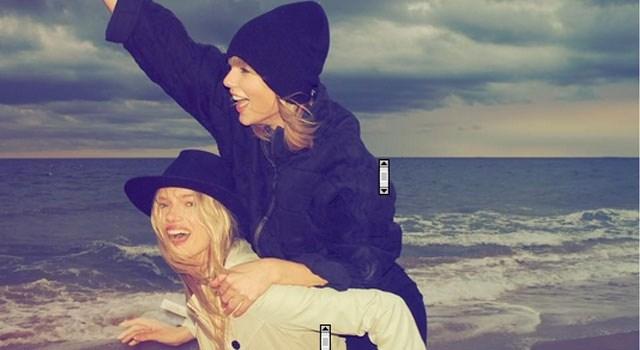 Taylor Swift waagt zich aan 'Mannequin Challenge' op het strand