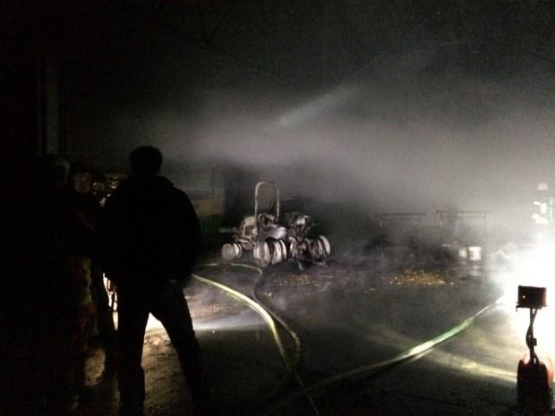 Brand breekt uit op terrein fort van Walem