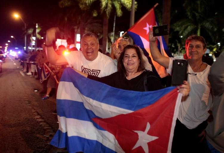 Feest in Cubaanse buurten van Miami na overlijden Fidel Castro