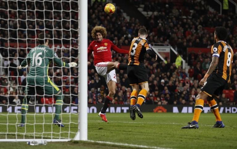 Fellaini scoort belangrijk doelpunt voor Manchester United
