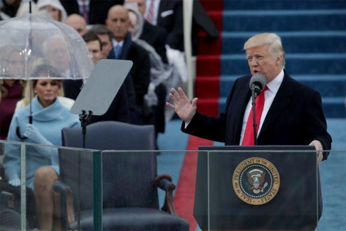 LETTERLIJK. De eerste speech van president Trump