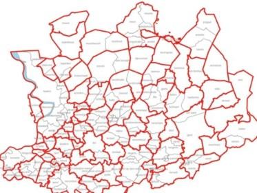 Kaart Dit Waren De Antwerpse Gemeentegrenzen Voor De Grote