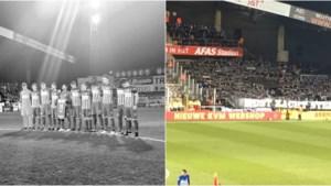Spel stilgelegd in Mechelen-Genk voor eerbetoon aan mevrouw Buffel