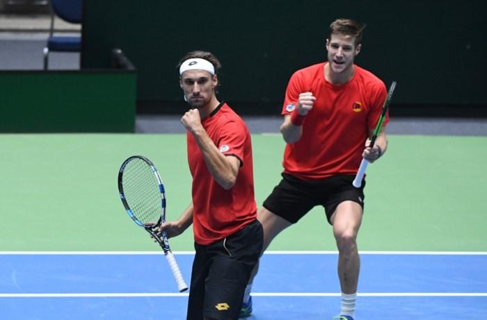 Belgische mannen blijven stunten en winnen nu ook dubbelspel op Davis Cup