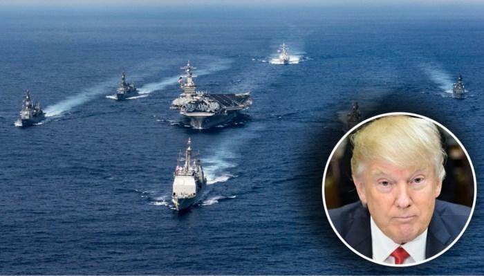 Trump stuurt vliegdekschip met vloot naar Noord-Korea