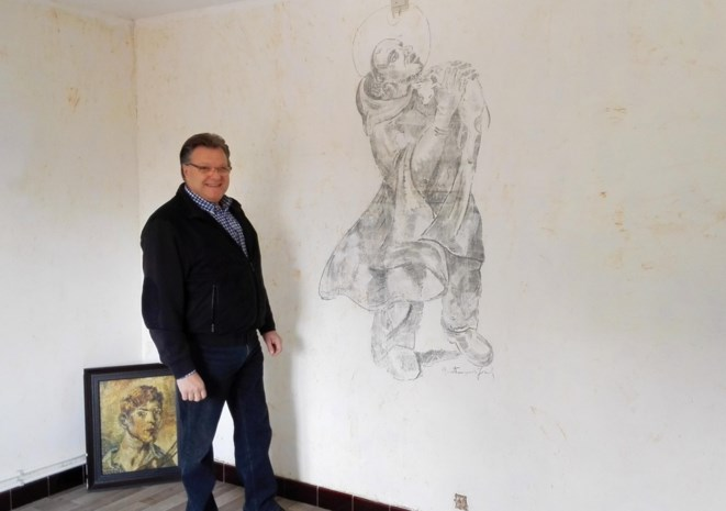 Behang verbergt prille muurtekening Antoon