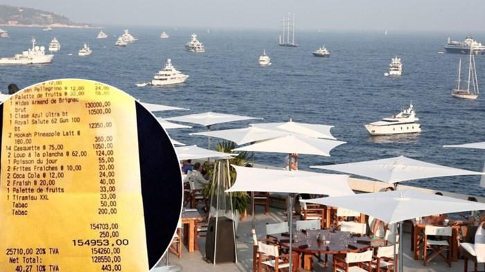 Een middagje op een terras op het strand? Dat is dan 154.953 euro aub