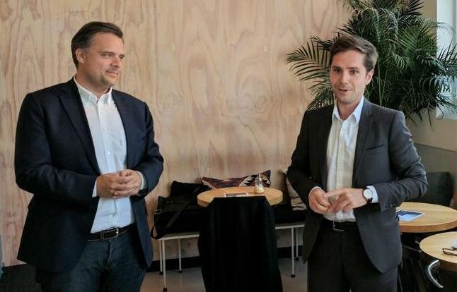 Franse verkiezingskandidaat van partij van president Macron voert campagne in Antwerpen