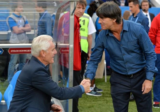 Löw viert tegen Hugo Broos 150e match als Duits bondscoach met 100e zege