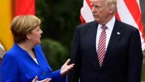 """Trump bespreekt klimaat met Merkel: """"Denk niet dat Amerika standpunten opzij schuift"""""""