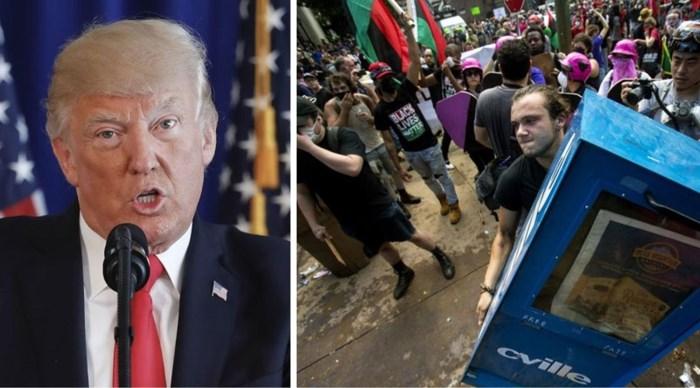 Trump onder vuur na reactie op dodelijke incidenten bij extreemrechtse betoging Charlottesville