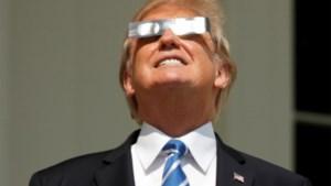 """Ook de Trumps genieten van """"Great American Eclipse"""""""