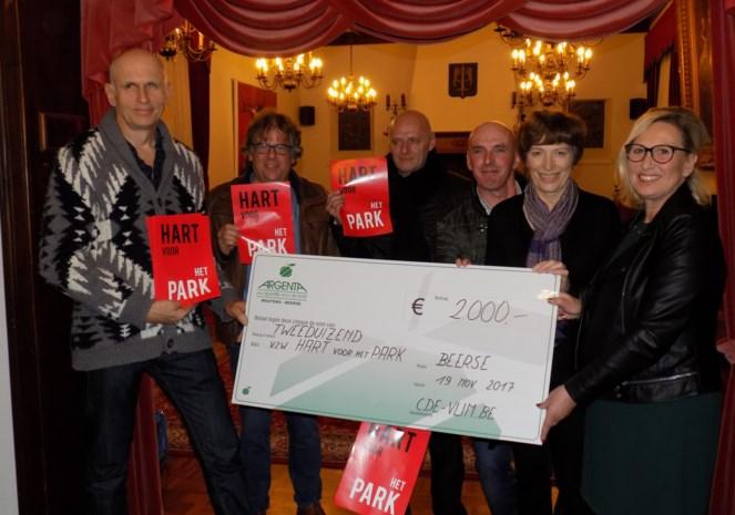 2.000 euro voor  Hart voor het Park