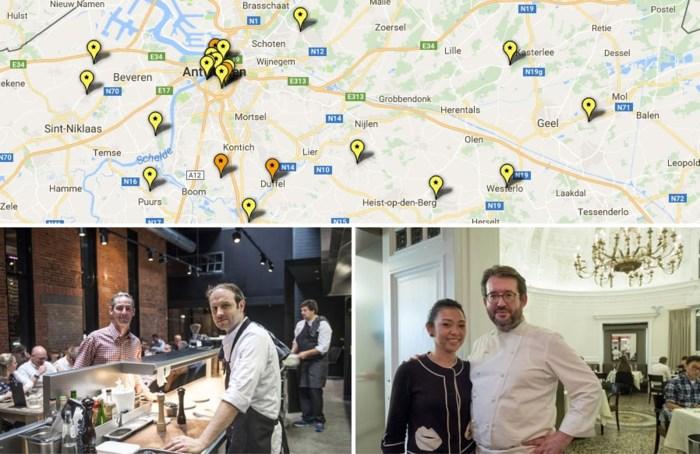 OVERZICHT. Dit zijn de nieuwe sterrenrestaurants in Antwerpen