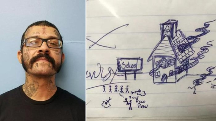 Man gearresteerd omdat hij gruwelijke tekening maakte op huiswerk van leerling