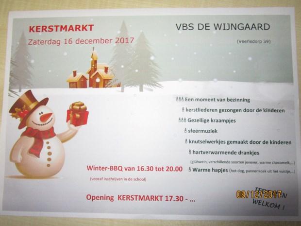 Kerstsfeer en gezelligheid bij Basisschool De Wijngaard