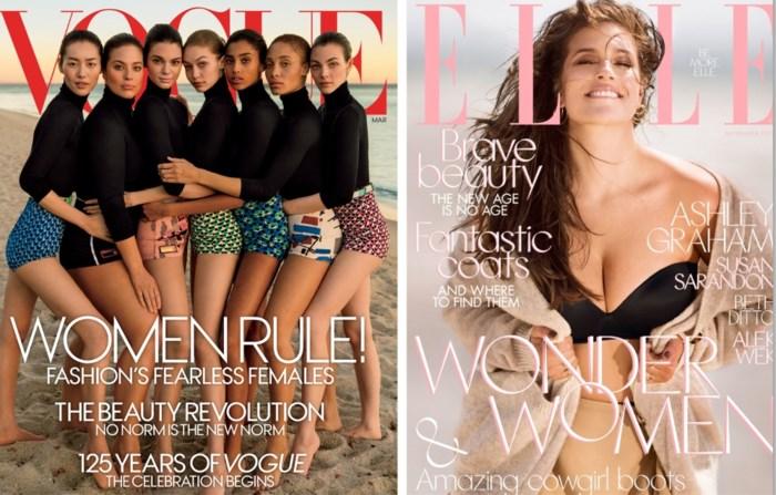 Plus size modellen mogen nog steeds niet op de cover (behalve ééntje)