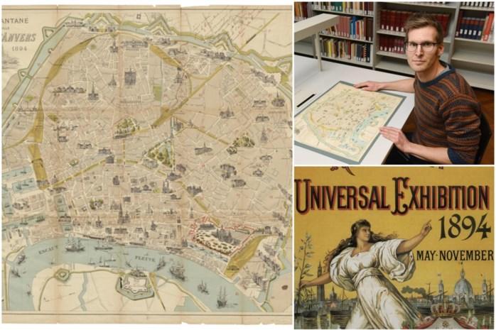 KAART. Zo zag Antwerpen eruit in 1894: gedetailleerde toeristenkaart tot in de puntjes gerestaureerd