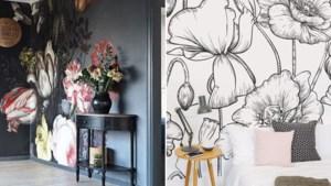TREND. Grote bloemenprints op muren