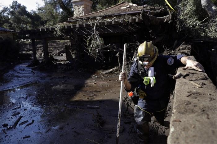 Vier kinderen bij slachtoffers modderstromen in Californië