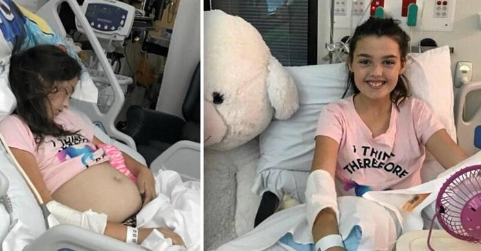 Dokters ontdekken tumor van 10 kilo in buik van 11-jarig meisje