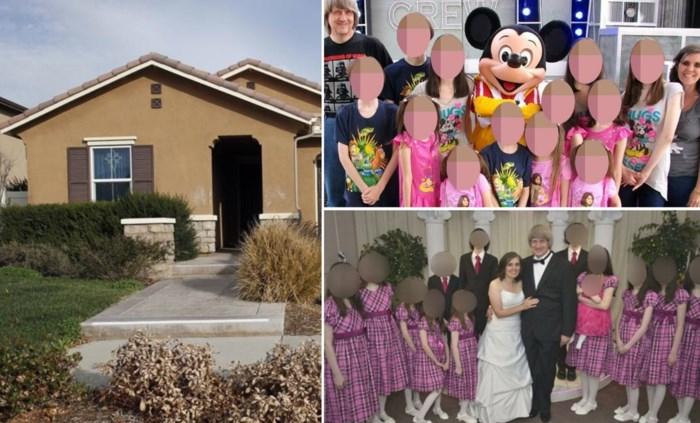 Zo ging het eraan toe bij het gezin Turpin: alledaagse woning aan de buitenkant, een gruwelhuis met martelkamer binnenin