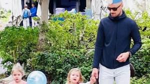 Tom Boonen gekroond op verjaardagsfeestje van dochtertjes